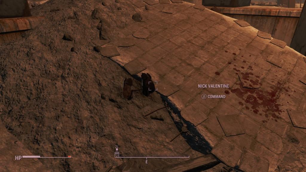 Uskollinen NPC:mme on pudonnut taas lattian läpi ja kävelee ylösalaisin.